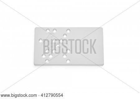Hotel door key card isolated on white background