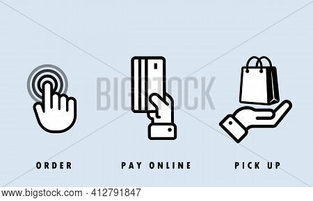 Contactless And Cash Payment Icon Set. Nfc Icon Set. Wireless Pay. Credit Card. Vector Eps 10. Isola