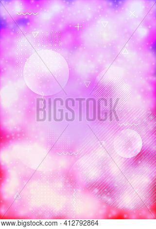 Neon Background With Liquid Purple Shapes. Luminous Fluid. Fluor