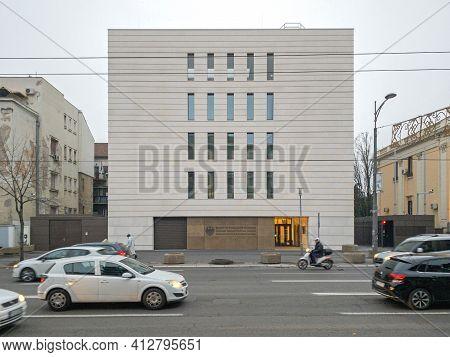 Belgrade, Serbia - December 11, 2020: Democratic Republic Germany New Embassy Building In Belgrade,