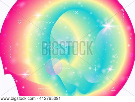 Holographic Background With Vibrant Rainbow Gradients. Dynamic F