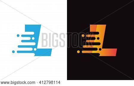 Abstract L Letter Speed Logo Design. Creative Unique Elegant Geometric, Minimal Fashion Brand L Lett