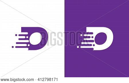 Abstract Letter O Speed Logo Design Element. Abstract Letter O Logo Design Template. Universal Fast