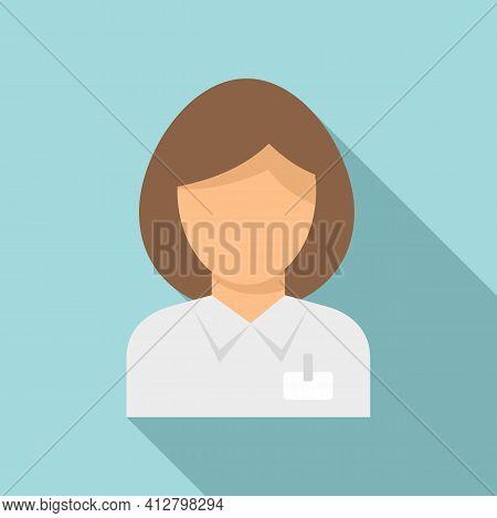 Shop Woman Seller Icon. Flat Illustration Of Shop Woman Seller Vector Icon For Web Design