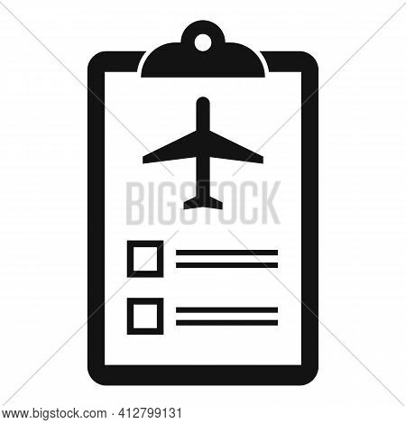 Plane Trip Icon. Simple Illustration Of Plane Trip Vector Icon For Web Design Isolated On White Back
