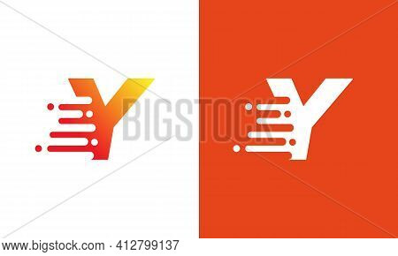 Abstract Letter Y Logo Design Template. Universal Fast Speed, Quick Energy Drop Icon..letter Y Speed