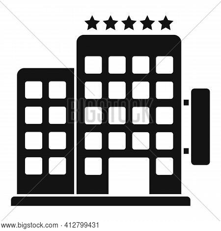 Trip Hotel Icon. Simple Illustration Of Trip Hotel Vector Icon For Web Design Isolated On White Back