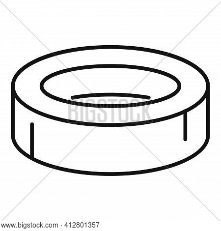 Scotch Roll Icon. Outline Scotch Roll Vector Icon For Web Design Isolated On White Background