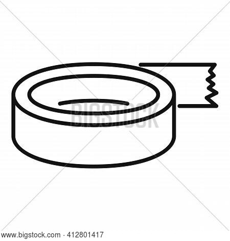 Roll Tape Icon. Outline Roll Tape Vector Icon For Web Design Isolated On White Background