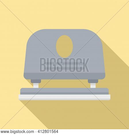 Paper Hole Puncher Icon. Flat Illustration Of Paper Hole Puncher Vector Icon For Web Design