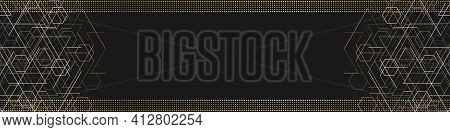 Technology Black Background .geometric Rhombuses.abstract Tech.technical Drawing.vector.