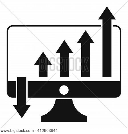Increasing Graph Icon. Simple Illustration Of Increasing Graph Vector Icon For Web Design Isolated O