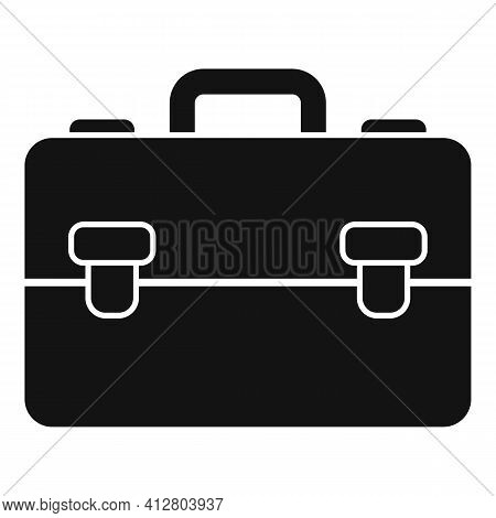 Manager Suitcase Icon. Simple Illustration Of Manager Suitcase Vector Icon For Web Design Isolated O
