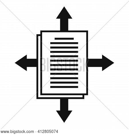 Page Restructuring Icon. Simple Illustration Of Page Restructuring Vector Icon For Web Design Isolat
