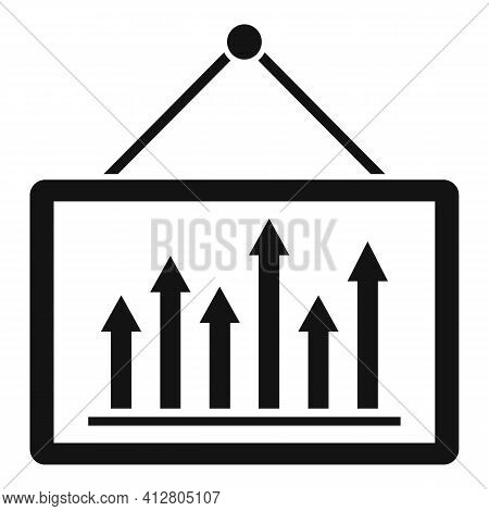 Restructuring Graph Icon. Simple Illustration Of Restructuring Graph Vector Icon For Web Design Isol