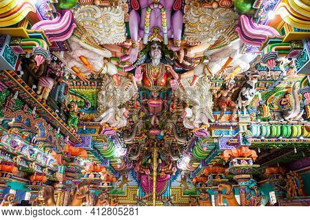 Trincomalee, Sri Lanka - February 15, 2017: Pathirakali Amman Temple Or Pathrakali Ambal Kovil Inter
