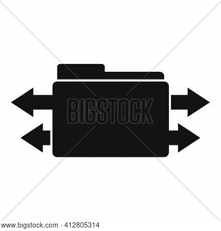 Restructuring Information Icon. Simple Illustration Of Restructuring Information Vector Icon For Web