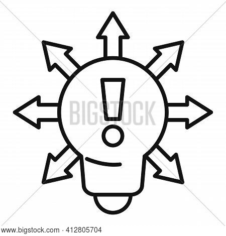 Restructuring Idea Icon. Outline Restructuring Idea Vector Icon For Web Design Isolated On White Bac