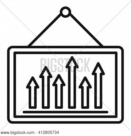 Restructuring Graph Icon. Outline Restructuring Graph Vector Icon For Web Design Isolated On White B