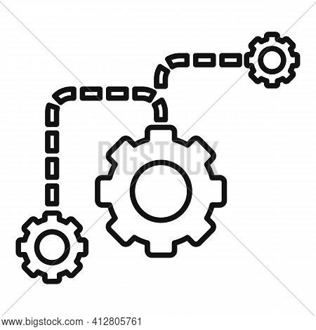 Restructuring Process Icon. Outline Restructuring Process Vector Icon For Web Design Isolated On Whi