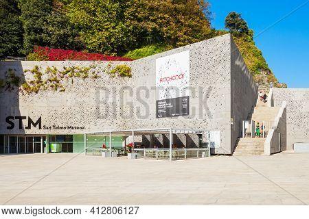 San Sebastian, Spain - September 29, 2017: San Telmo Museoa Museum Is A Basque Society Museum Locate