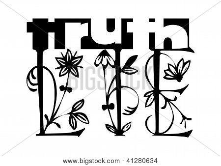 Truth - Lie concept