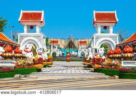 Da Nang, Vietnam - March 18, 2018: Danang Sun World Asia Park In Da Nang City In Vietnam
