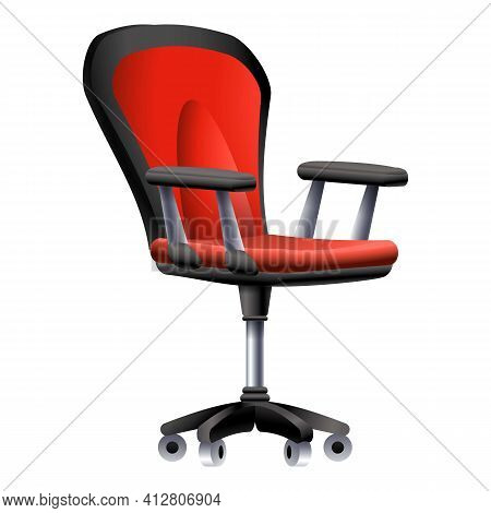 Lecture Desk Chair Icon. Cartoon Of Lecture Desk Chair Vector Icon For Web Design Isolated On White