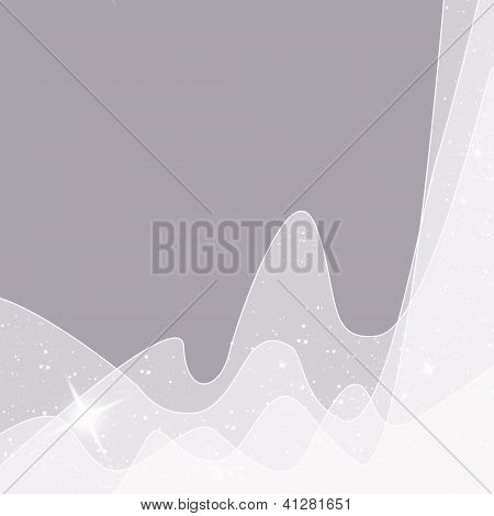 Beautiful Gray Abstract Background With Glowing Fabric With Space For Text