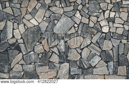 Texture Of A Stone. Old Stone Wall Texture Background. Grey Stone Wall As A Background Or Texture. S