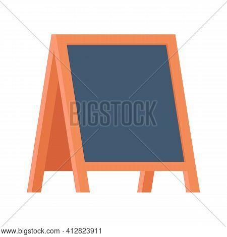 Blank Sandwich Board, Stand, Chalkboard For Special Menu Announcement. Clean Blackboard Near Pub, Ca