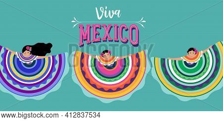 Viva Mexico, Independence Day, Cinco De Mayo, Federal Holiday In Mexico. Fiesta Banner And Poster De