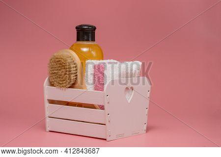 Bath Accessories, Daily Bodycare Concept, Organic Bath Products.