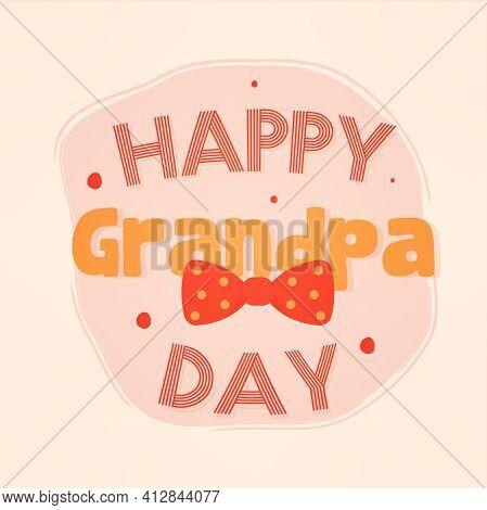 Happy Grandpa Day Granparents Day Image Icon- Vector