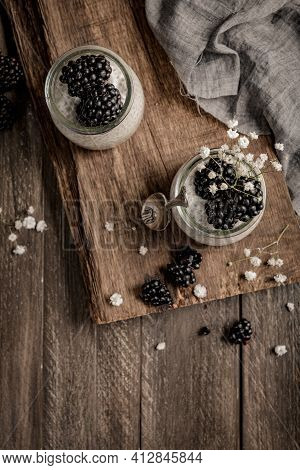 Chia Pudding With Blackberries