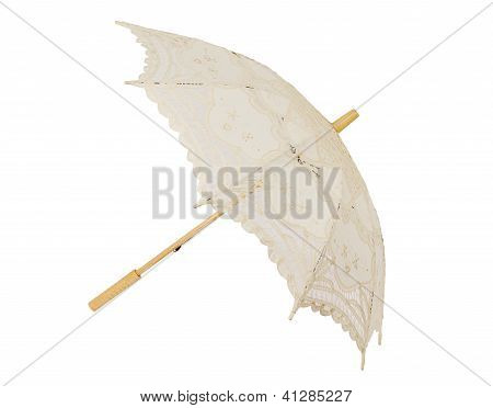 Open lace umbrella