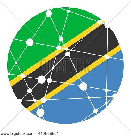 Tanzania Flag. Concept Of Travel And Geography.