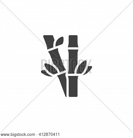 Bamboo Tree Vector Icon. Filled Flat Sign For Mobile Concept And Web Design. Bamboo Plant Glyph Icon