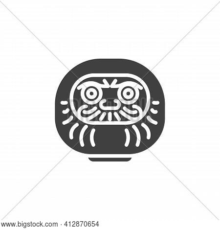 Daruma Doll Vector Icon. Filled Flat Sign For Mobile Concept And Web Design. Traditional Japanese Do