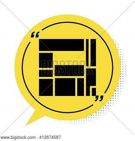 Black House Edificio Mirador Icon Isolated On White Background. Mirador Social Housing By Mvrdv Arch