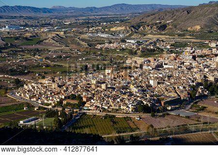 Cieza With Its Church, Parroquia Nuestra Senora De La Asuncion In The Murcia Region In Spain