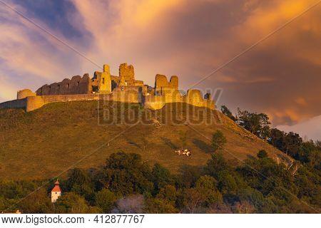 Branc ruins near Myjava, Western Slovakia, Slovakia