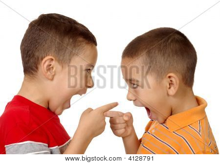 Kids Arguing, Aged Five And Six Years