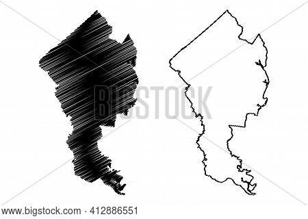 Jasper County, State Of South Carolina (u.s. County, United States Of America, Usa, U.s., Us) Map Ve