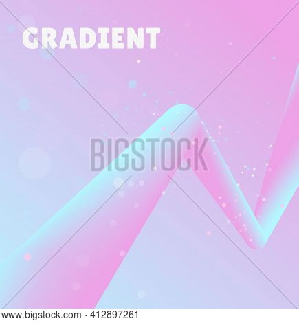 Abstract Background With 3d Gradient Blended Zig Zag Path. Stylish Gradient Template For Web, Covers