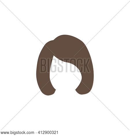 Female Bob Hair Style With Side Forelock On White Background Vector Illustration