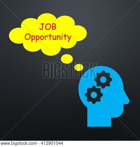 Illustrations Show About Job Opportunities. It Also Shows The Desire In The Mind Of Someone Who Want