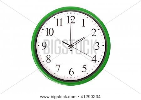 A clock of a serie showing 2 o'clock. Isolated on a white background.