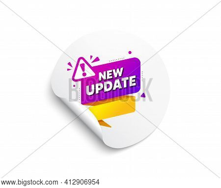 New Update Paper Banner. Important Message Tag. Vector