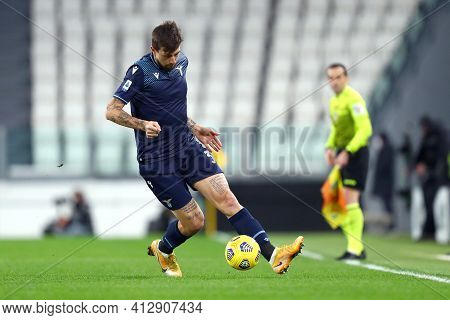 Torino, 06th March 2021. Francesco Acerbi Of Ss Lazio  During The Serie A Match Between Juventus Fc